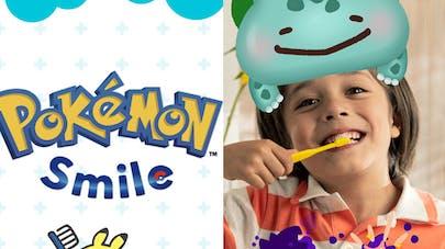 application pokémon smile brossage dents enfants