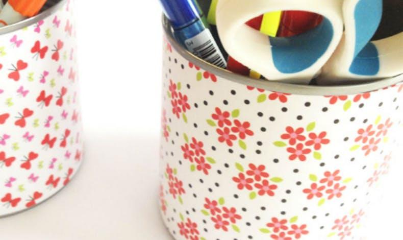 Un pot à crayons personnalisé