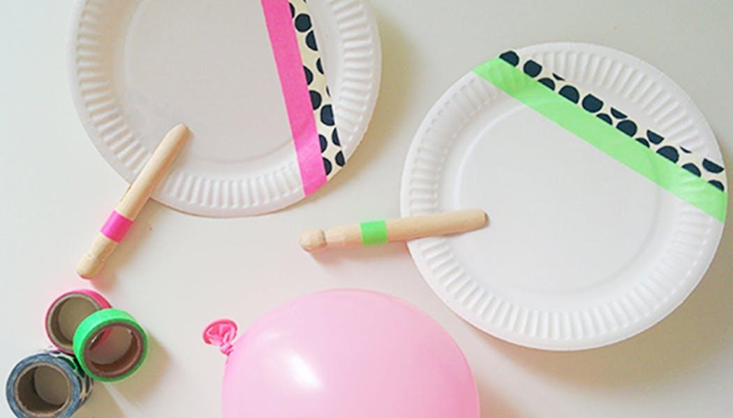 bricolage jeu de raquettes assiettes en carton