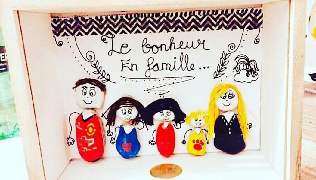 Un tableau de la famille version galets