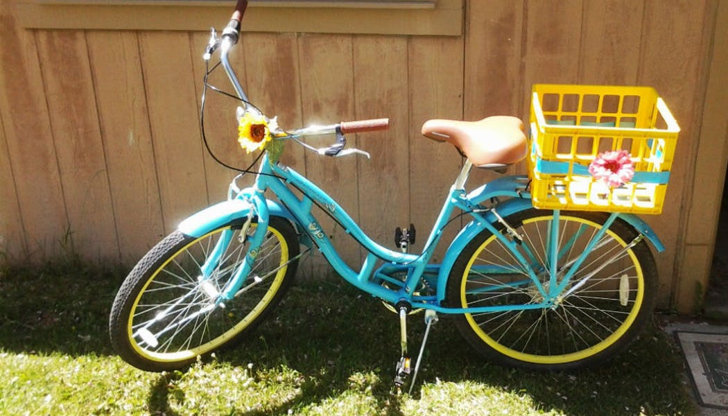 Un vélo... à fond la caisse