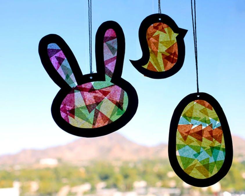 Un vitrail spécial Pâques
