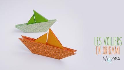 Un voilier en origami