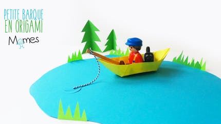 Une barque en papier