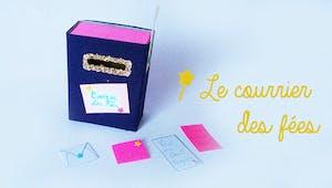 Une boîte aux lettres de fées avec une boite d'allumettes