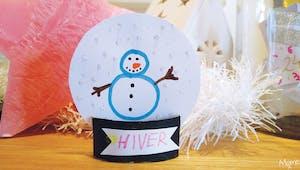 Une boule à neige en papier