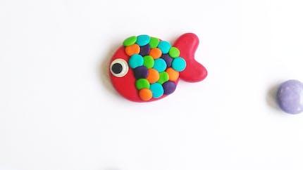 Une broche poisson en Fimo