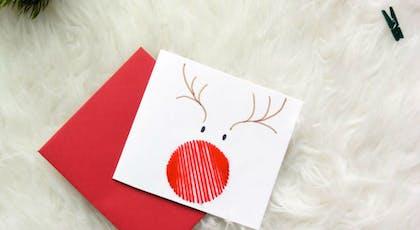 Une carte version Rudolph le renne