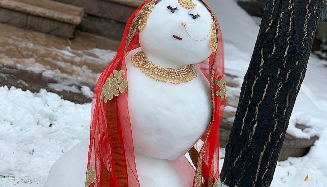 Une dame de neige hindoue