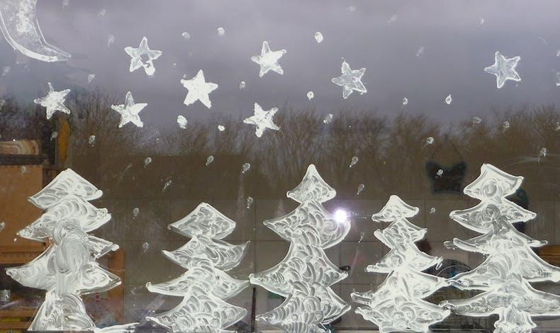 Une déco de Noël au blanc de Meudon