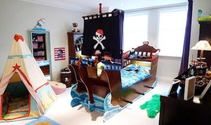 Une décoration de chambre thème pirate