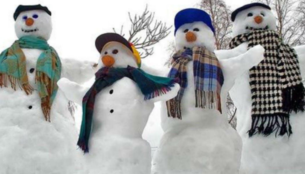 Une famille de neige