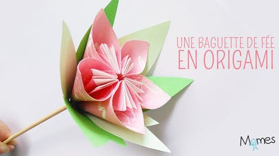Une fleur en origami