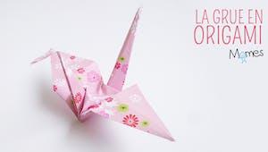 Une grue en origami