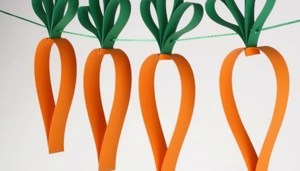 Une guirlande de carottes