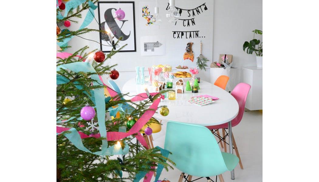 idées décorations Noël rapides simples faciles         dernière minute guirlande de papier crépon pour le         sapin