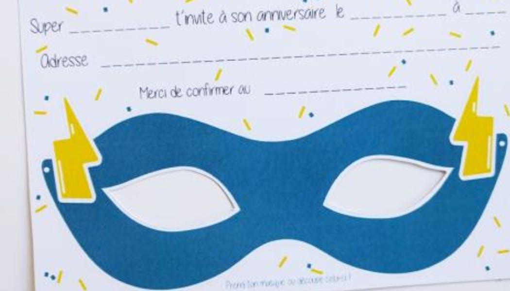 Une invitation en forme de masque