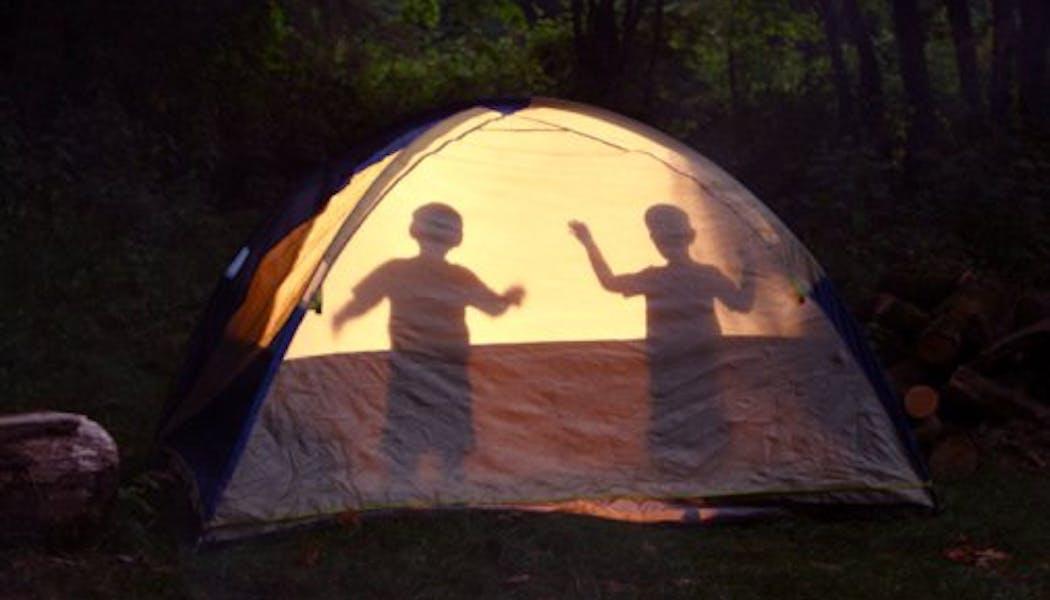 Une nuit dans la tente