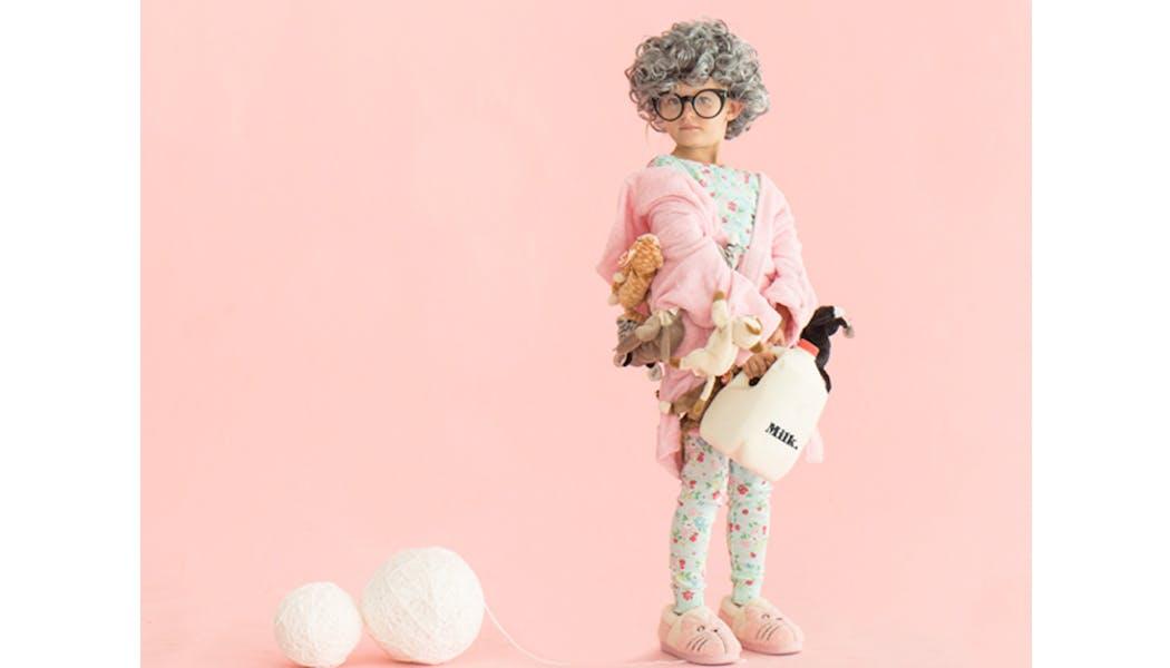 mamie à chats déguisements costume Halloween         enfants