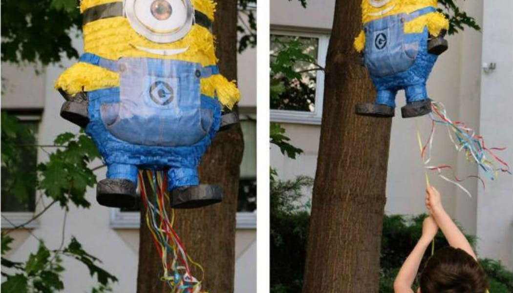 Une piñata remplie de friandises