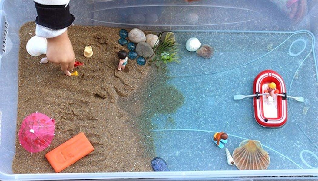 Une plage miniature