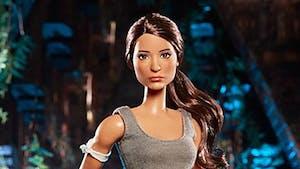 Une poupée Barbie Tomb Raider