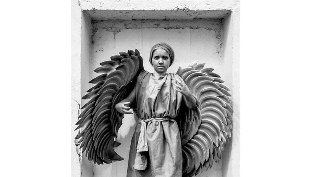 statue ange déguisements costume Halloween         enfants