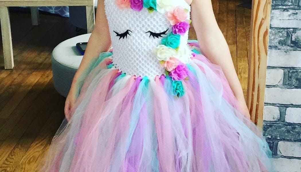 Une superbe robe inspiration licorne