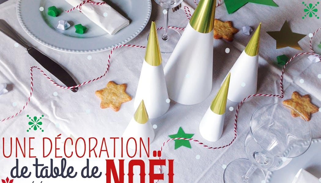 idées décorations Noël rapides simples faciles         dernière minute une table de Fêtes élégante et facile à         dresser