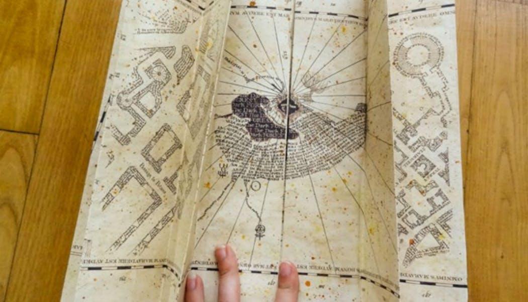 Une (véritable) carte du maraudeur