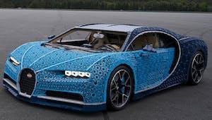 Une voiture Bugatti entièrement en Lego et qui roule !