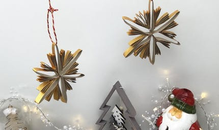 Upcycling: décorations de Noel en carton