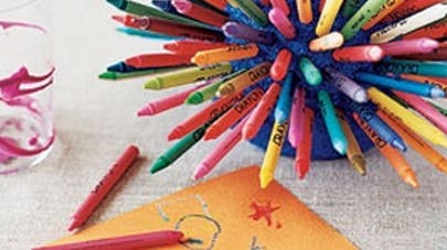 art maternelle crayon gras