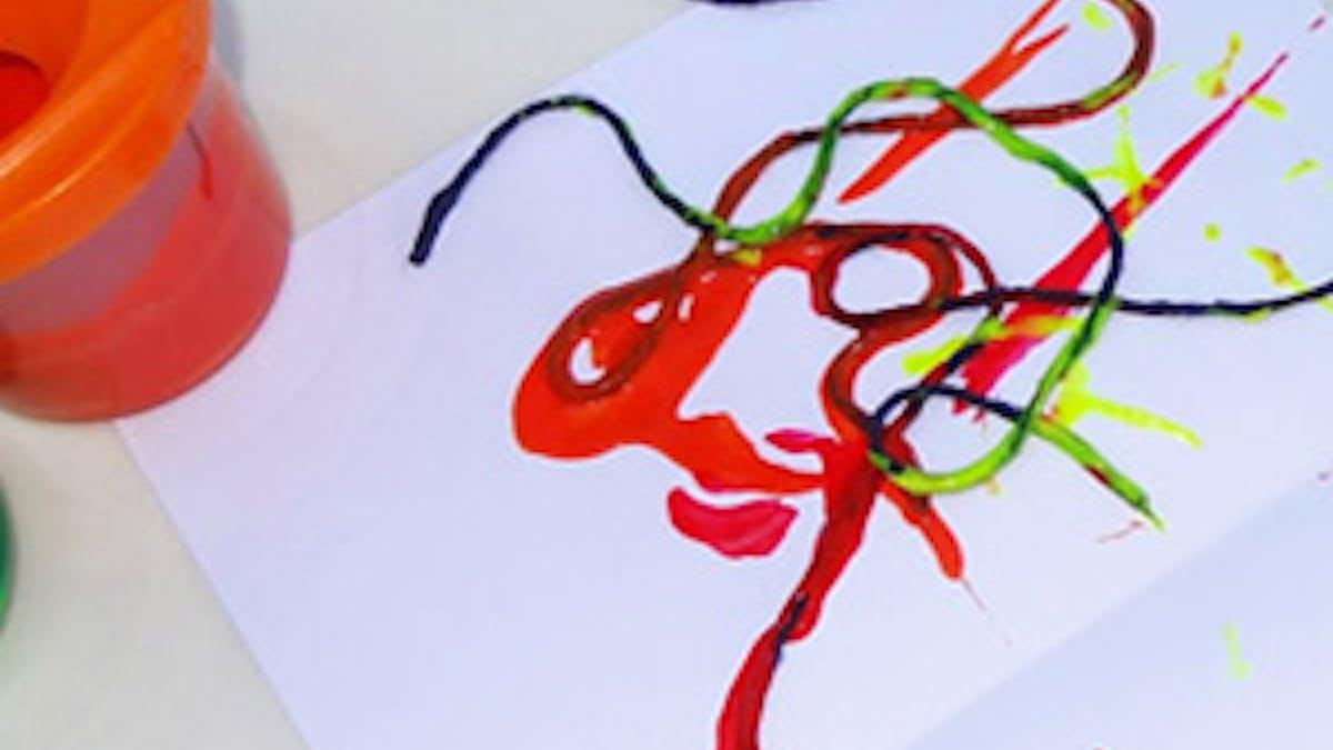 peinture ficelle maternelle