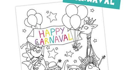 coloriage carnaval à imprimer