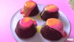 Volcans fondants au chocolat