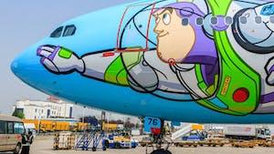 Voler dans un avion Airbus Toy Story !