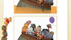 Winnie l'ourson : jeu des 7 différences