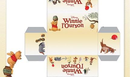 Winnie l'ourson : petite boite à imprimer