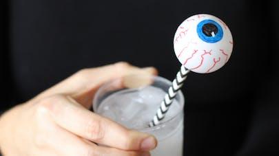 yeux balles ping pong halloween