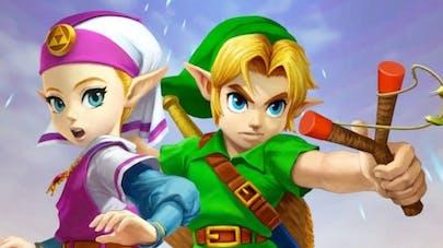 The Legend of Zelda Link et Zelda jeu vidéo