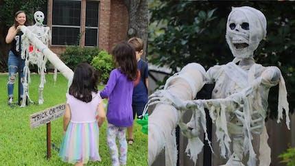 Coronavirus et Halloween : des parents inventent une rampe de distribution de bonbons à fabriquer soi-même