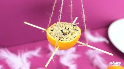 DIY Mangeoire à oiseaux dans une orange