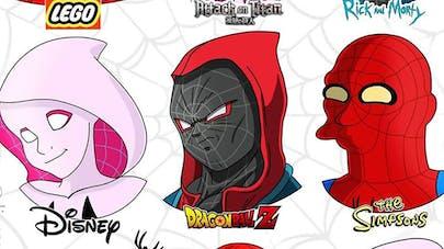 Spider-Man dessiné façon Disney DragonBall Z The Simpsons