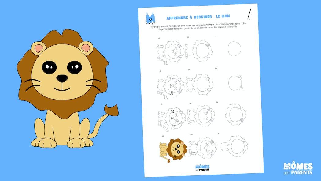 Apprendre à dessiner : le lion