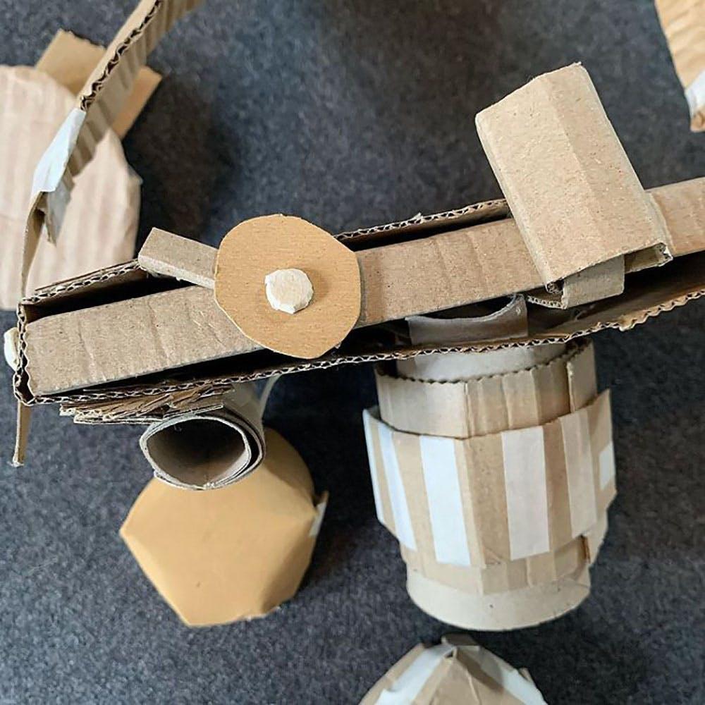 appareils électroménagers fabriqués en carton