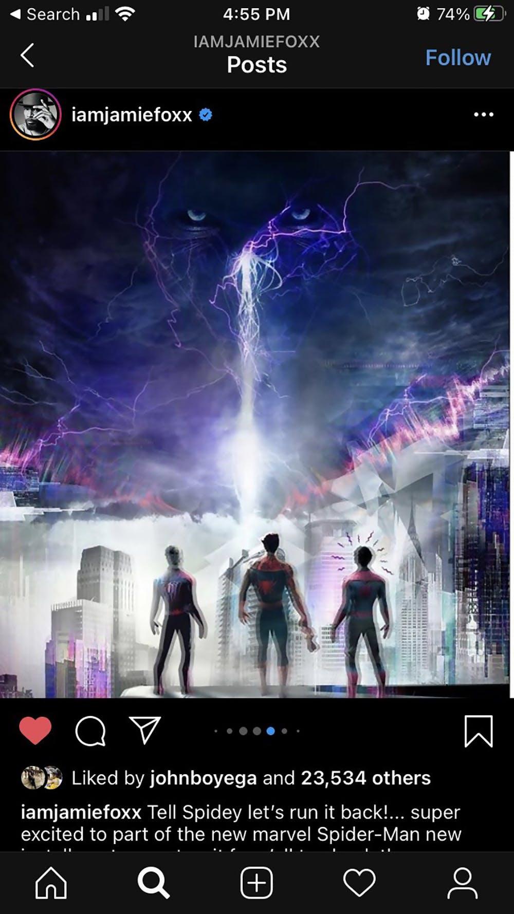 electro face aux 3 spider-men