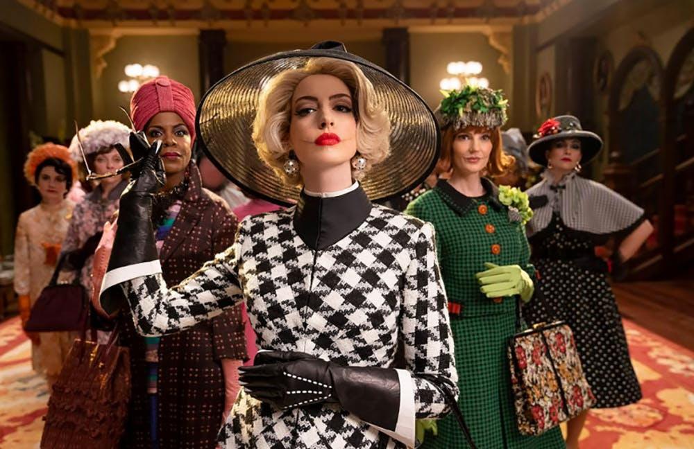 actrice Anne Hathaway en cheffe des sorcières bande annonce film Sacrées Sorcières