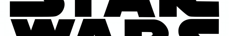 logo star wars noir sur fond blanc
