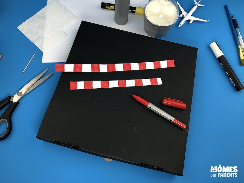 Créer le motif rouge et blanc